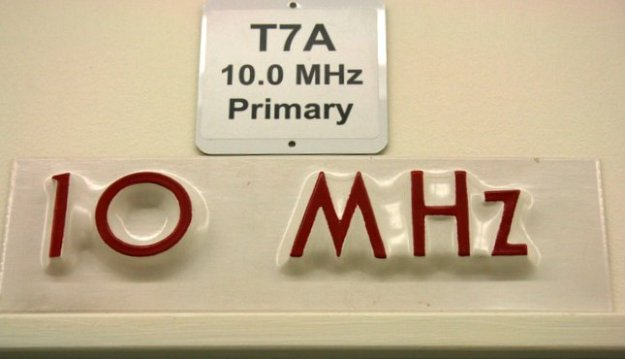 Photo I took in 2014 of the sign above WWV's primary 10 MHz transmitter.