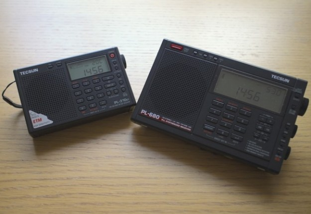 Tecsun PL310-ET and Tecsun PL680, my two favourite portable shortwave radios.