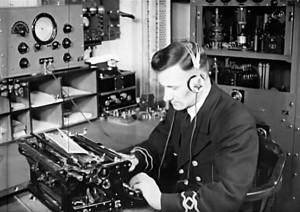 Radiotelegraphy room, New Zealand 1939