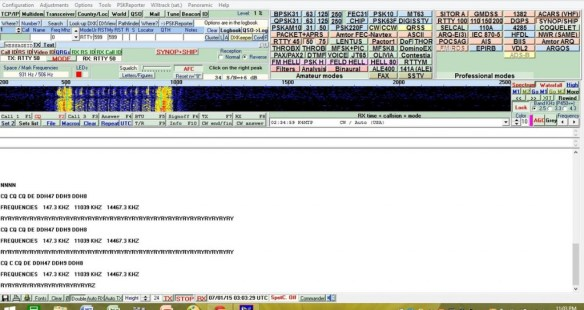 German RTTY station with message loop. Deciphered via MultiPSK.