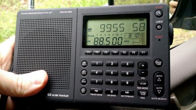 Several models of shortwave portables, like my Grundig G3, have RDS which allows me to easily set BST-1 station memories. Note that RDS is a standard feature on most vehicles sold today--sadly, my 2008 model minivan lacks RDS.