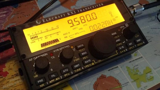 My new Elecraft KX2 tuned to Radio Australia this morning.