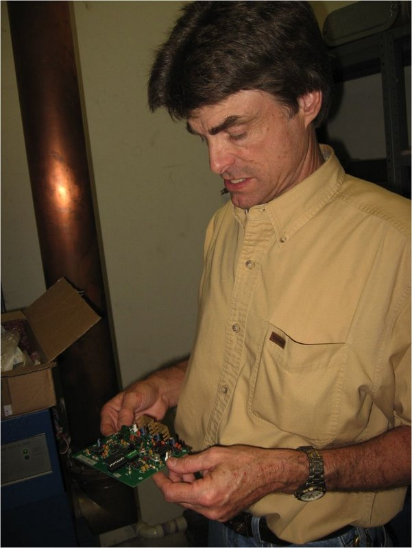 Figure 5. Larry with new synthesized reference oscillator module