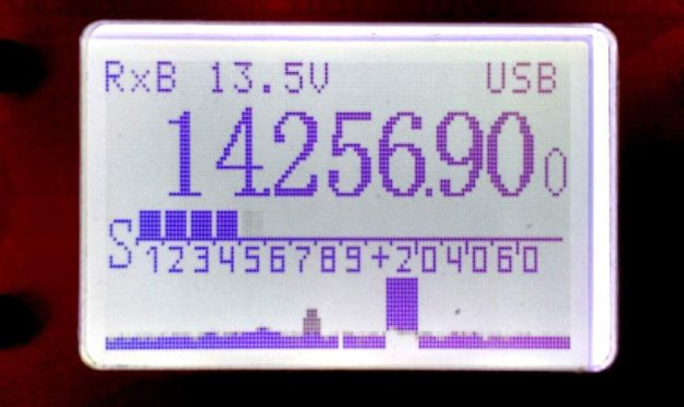 The panadapter display is found at the bottom of the LD-11's backlit display.