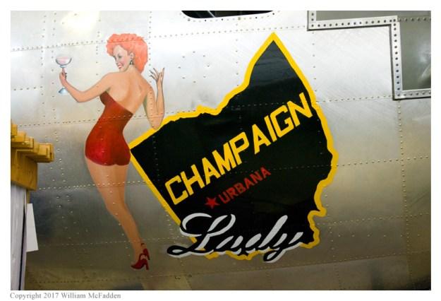 """B-17G """"Champaign Lady"""" nose-art"""