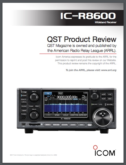 Download the ARRL review of the Icom IC-R8600 | The SWLing Post