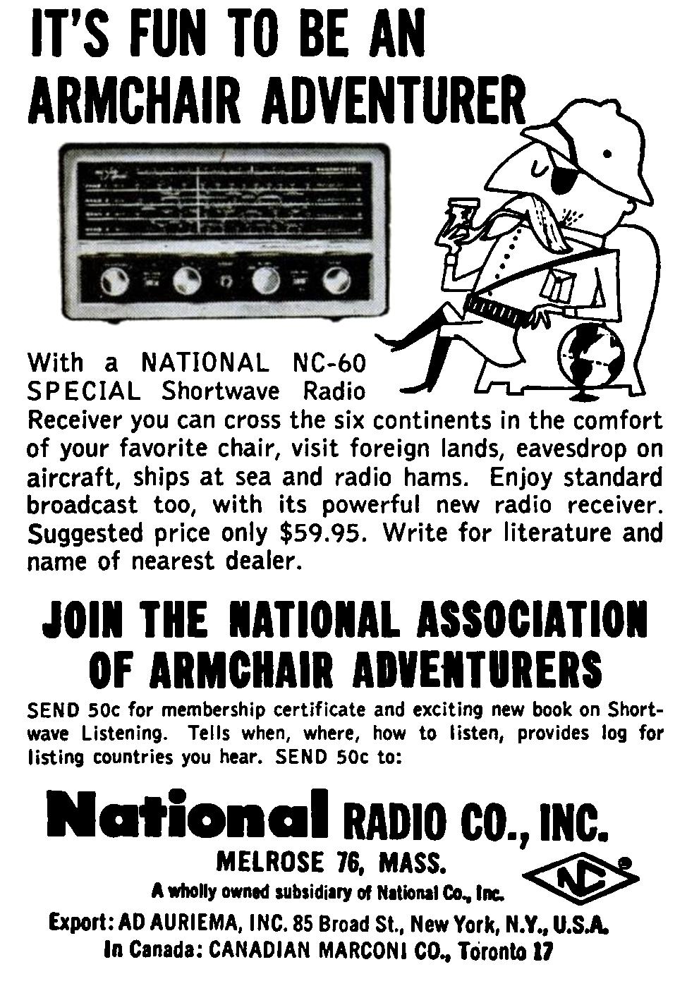 Guest Post: The National Association of Armchair Adventurers