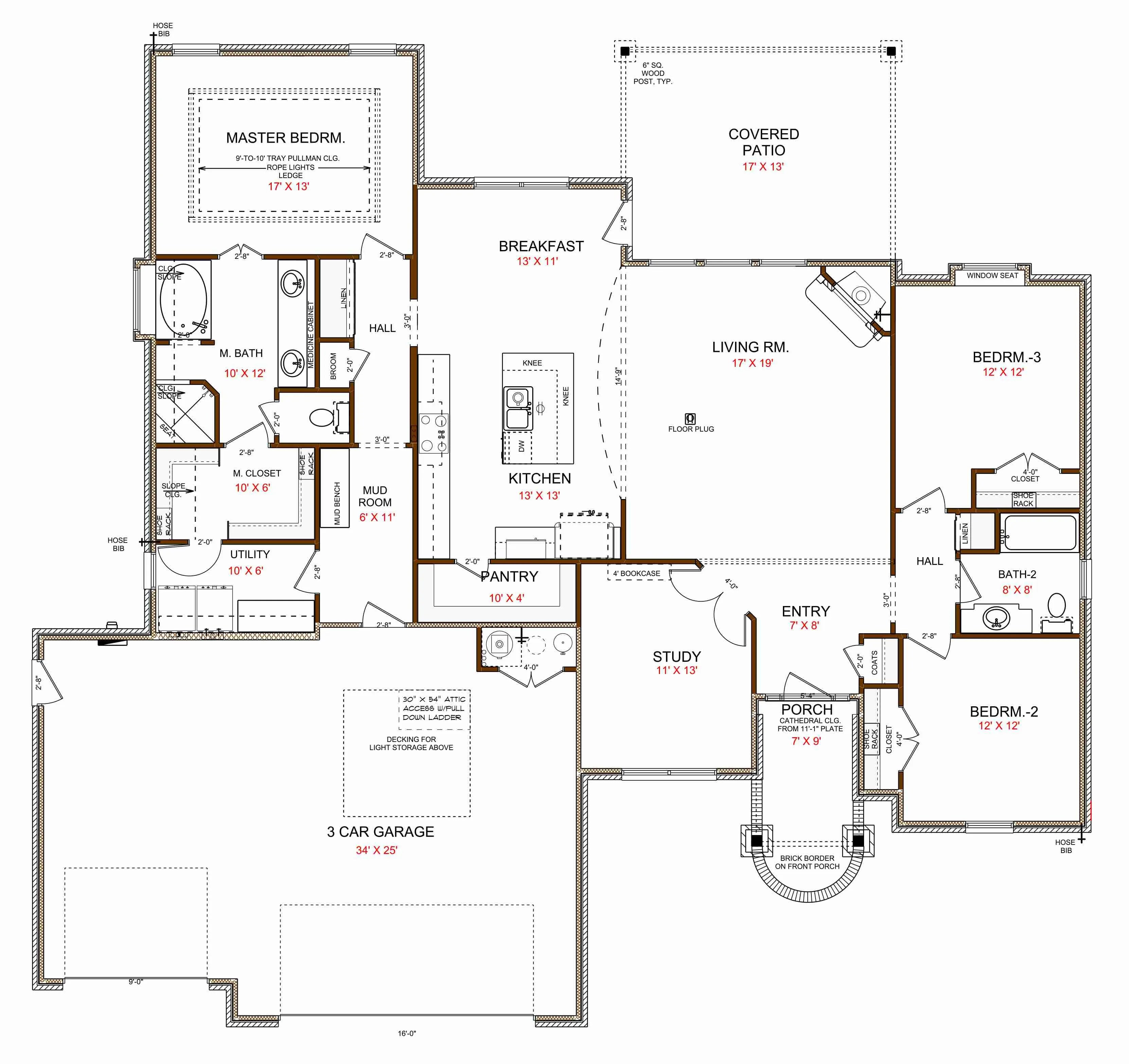 17955 Tall Oak - Floor Plan