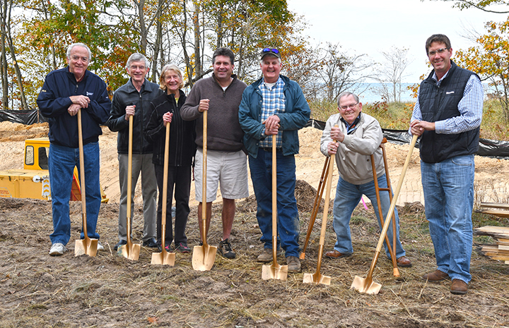 Groundbreaking ceremony, Pilgrim Haven Natural Area, 10/31/16