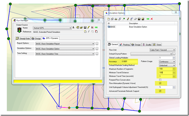 Figure 2.  Control the Continuity Error with the Run Control Options in Run Manager.
