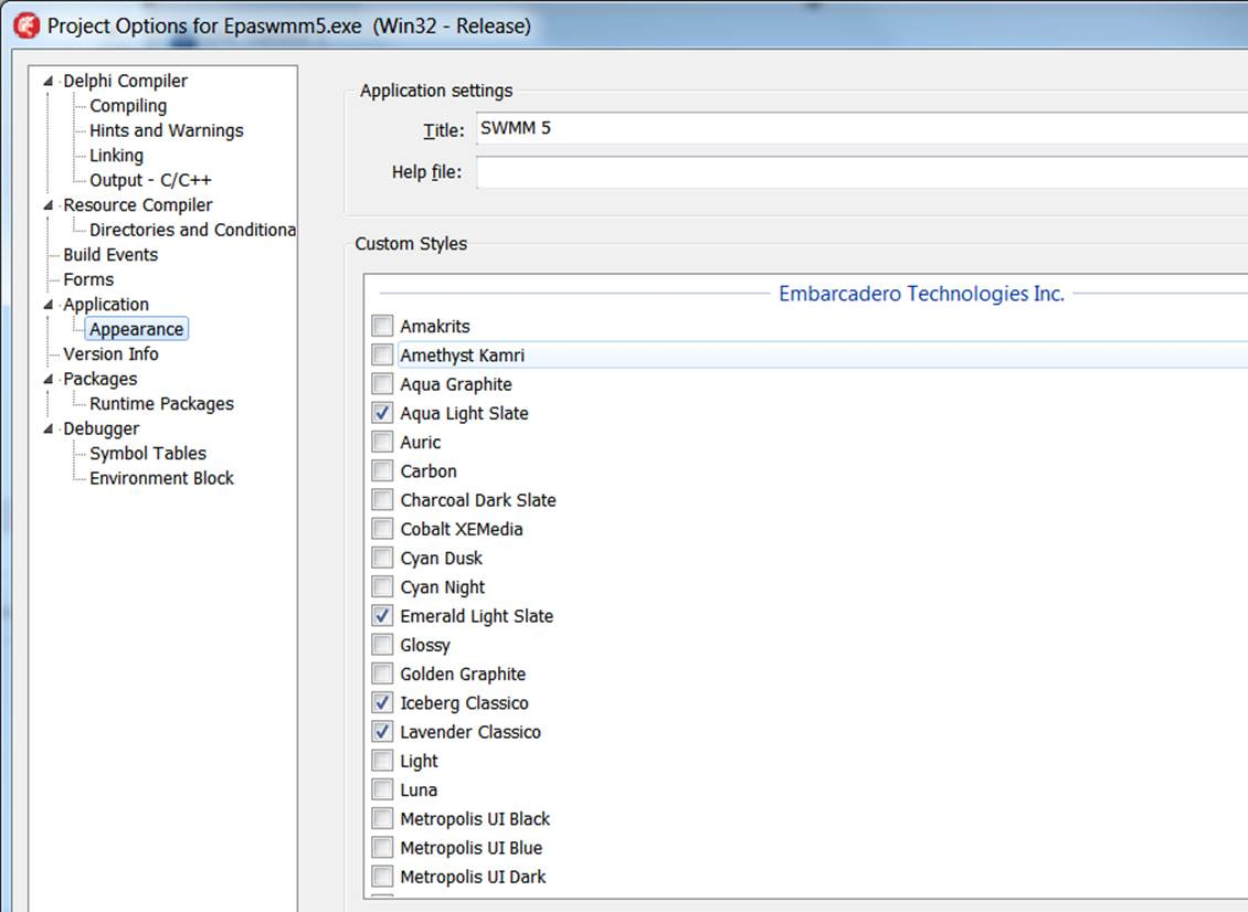 Using Delphi XE7 with the EPA SMMM 5 1 012 GUI | Blogs about