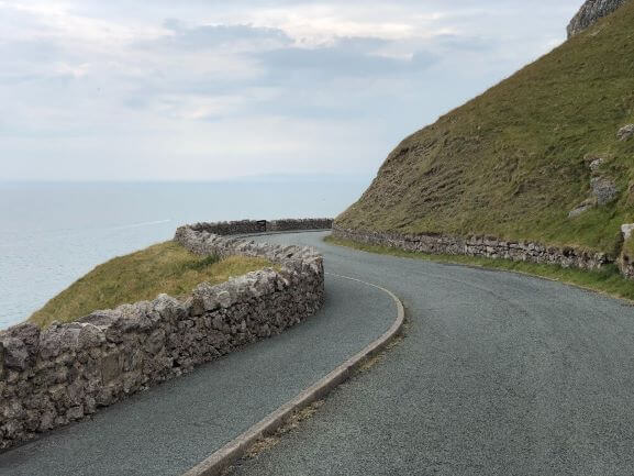 Winding road of the Great Orme Coastal Path