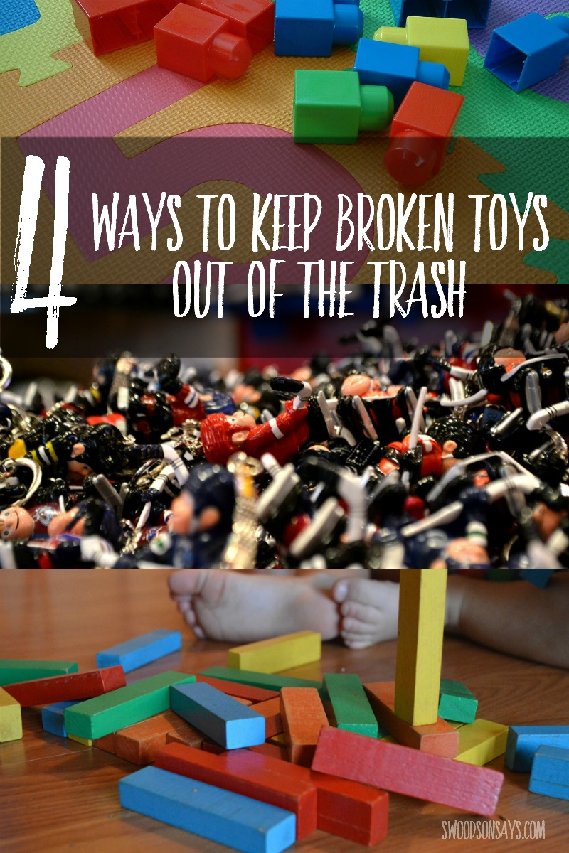 Brocken Used Toys : How to recycle upcycle old or broken toys swoodson says