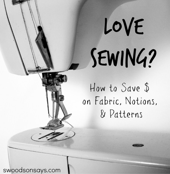Money saving tips for sewing - you can save money by sewing with these great ideas! #sewing #moneytips