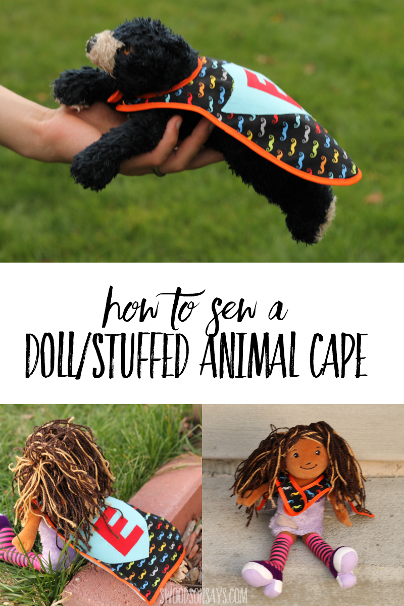 how to sew a doll cape