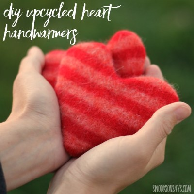 Upcycled Heart Hand Warmers Tutorial