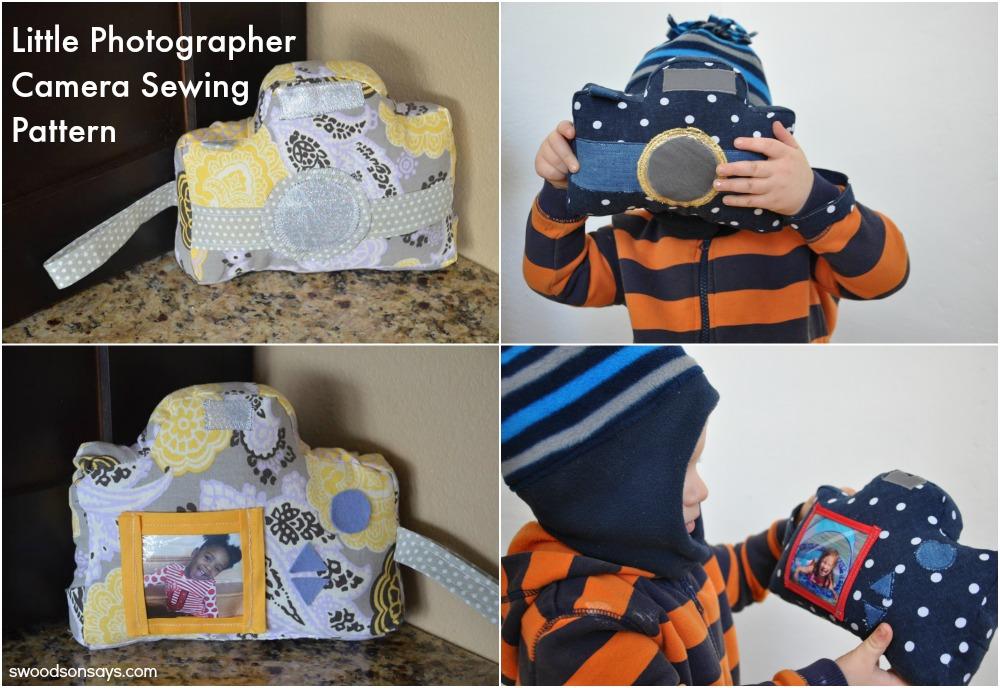 Little Photographer Camera Softie Sewing Pattern (2)