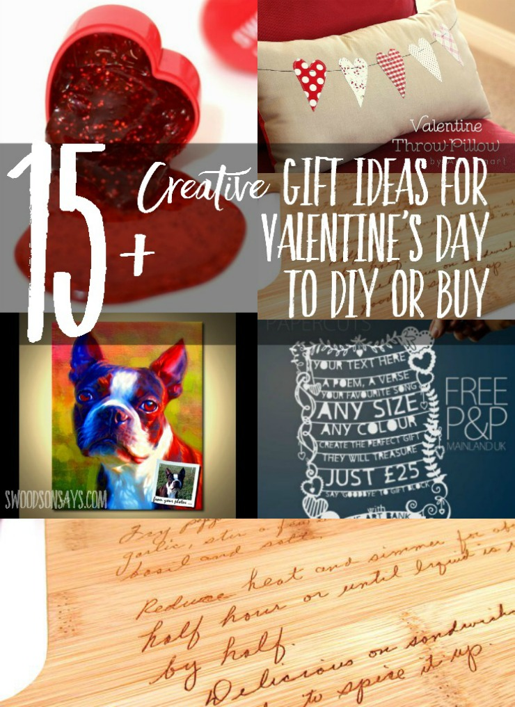 "Creative gifts to sew and craft for Valentine's Day - with a few ""off the shelf"" ideas too!"