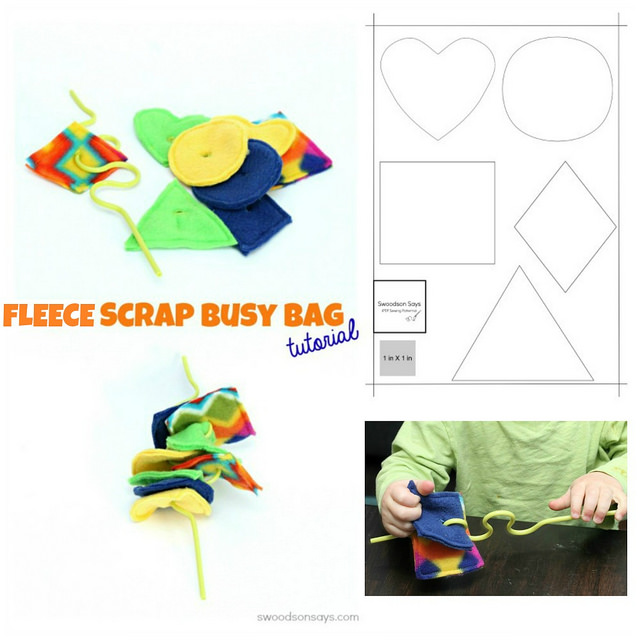 Use up your felt scraps for a fun toddler busy bag activity!