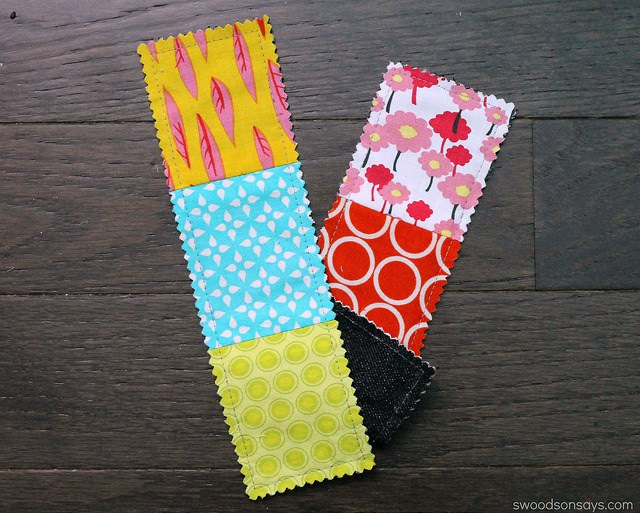 Easy Projects For Kids to Sew at Home: Scrappy Bookmarks