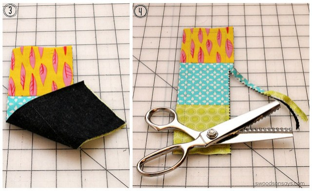 fabric bookmark without a pattern