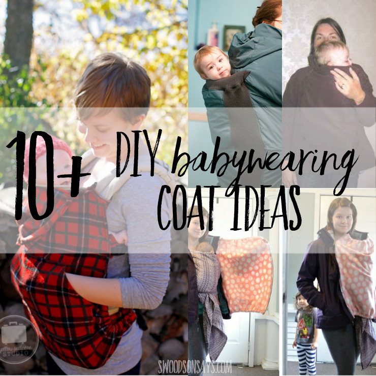 Babywearing coats are expensive! Check out these diy babywearing coat tutorials and patterns so you can make your own coat for back or front carrying your child in a carrier. #babywearing #diybabywearingcoat