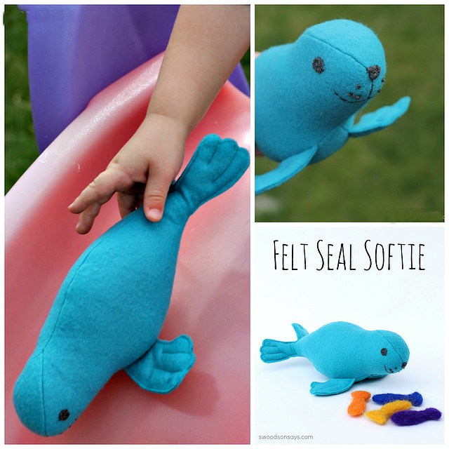 Check out this super cute Stuffed Seal Sewing Pattern. Really creative finishing details that produce a professional looking stuffie that is fun to paly with and snuggle! I love PDF sewing patterns for stuffed animals.
