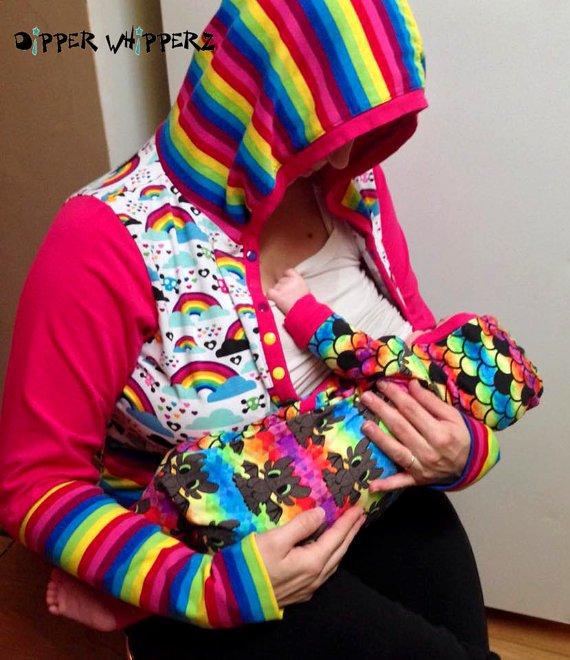 color blocked hoodie sewing pattern