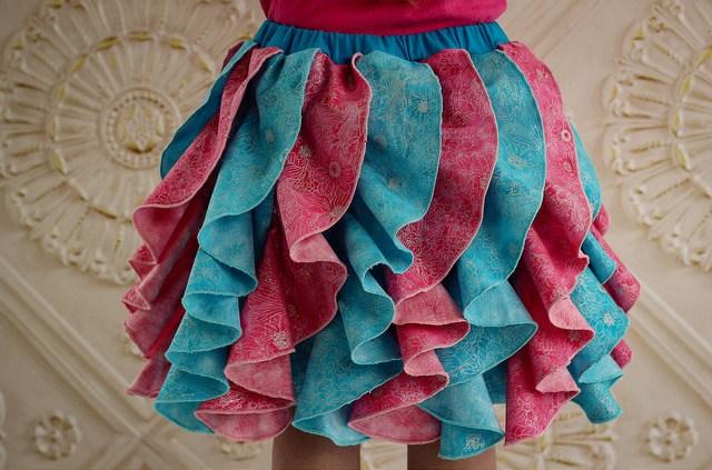 upcycle ruffle skirt sewing pattern