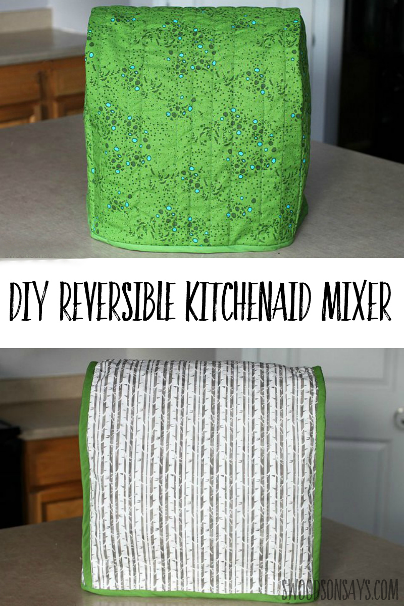 Check out this reversible kitchenaid mixer cover pattern! Linked in the post, see this quilted version and what the scraps were made into. #sewing