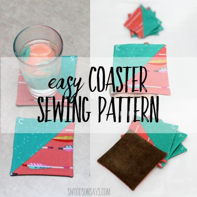 Easy coaster sewing pattern