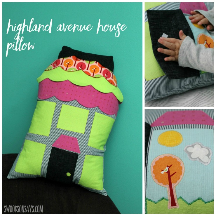 Highland Avenue House Pillow, sewn by Swoodson Says