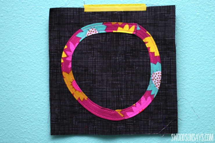 geometric bias tape applique quilt block