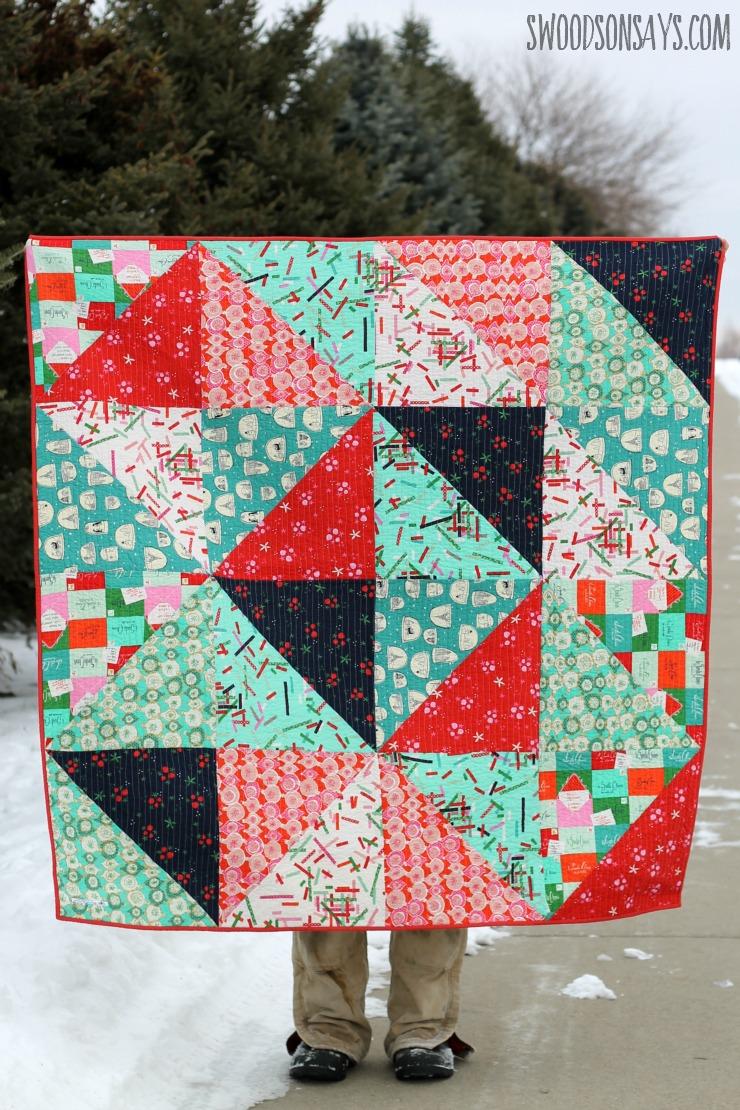 hst christmas quilt