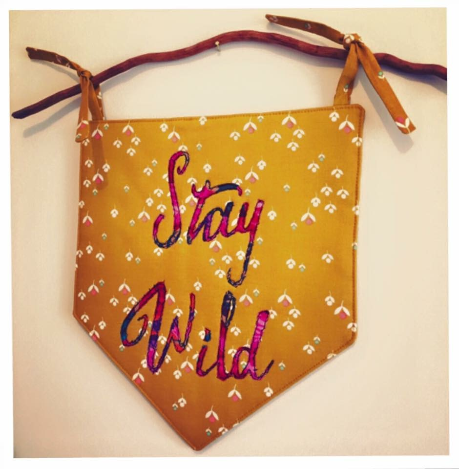 Stay Wild Girly Wall Hanging