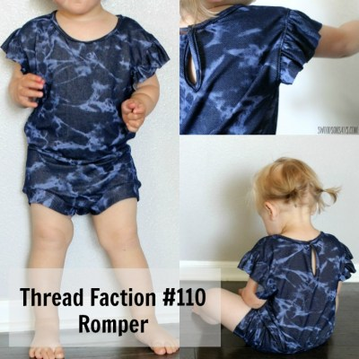 Thread Faction #110 Romper - a PDF Sewing Pattern for a summer romper with flutter sleeves. Perfect summer romper to sew for a girl!