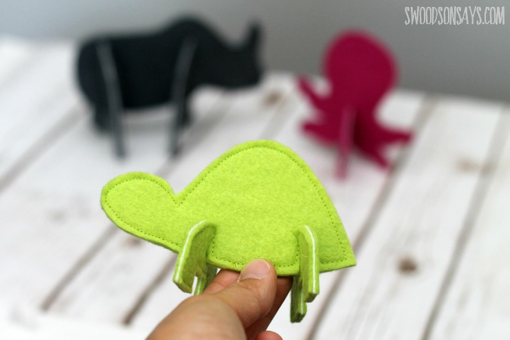 handmade toy sewing pattern for puzzle animals