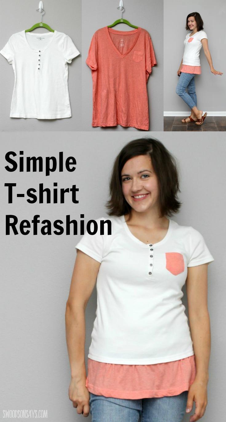 Simple Refashion Shirt Tutorial