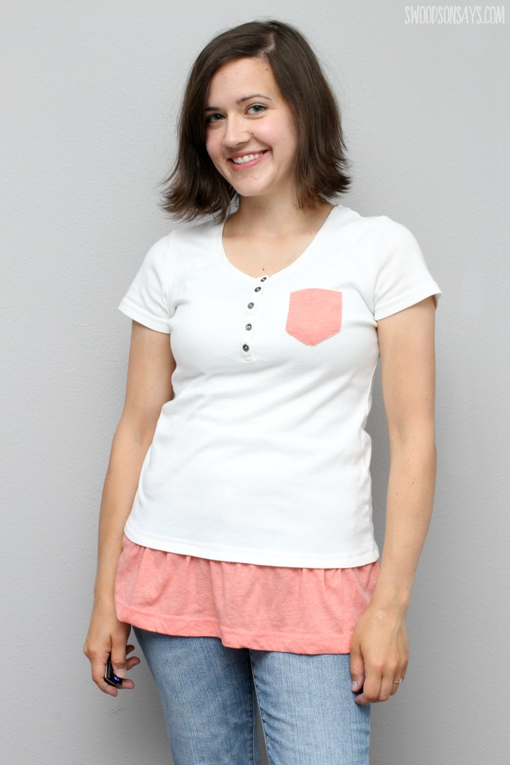 simple tshirt refashion