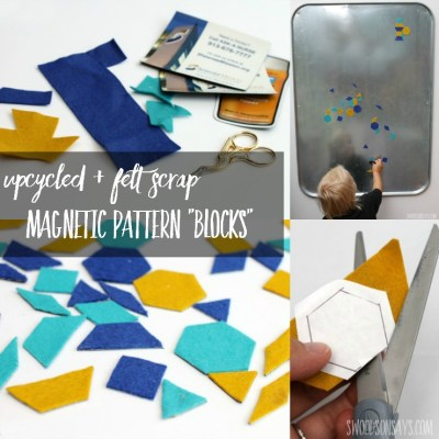 DIY Pattern Blocks – Felt Scraps + Upcycled Magnets
