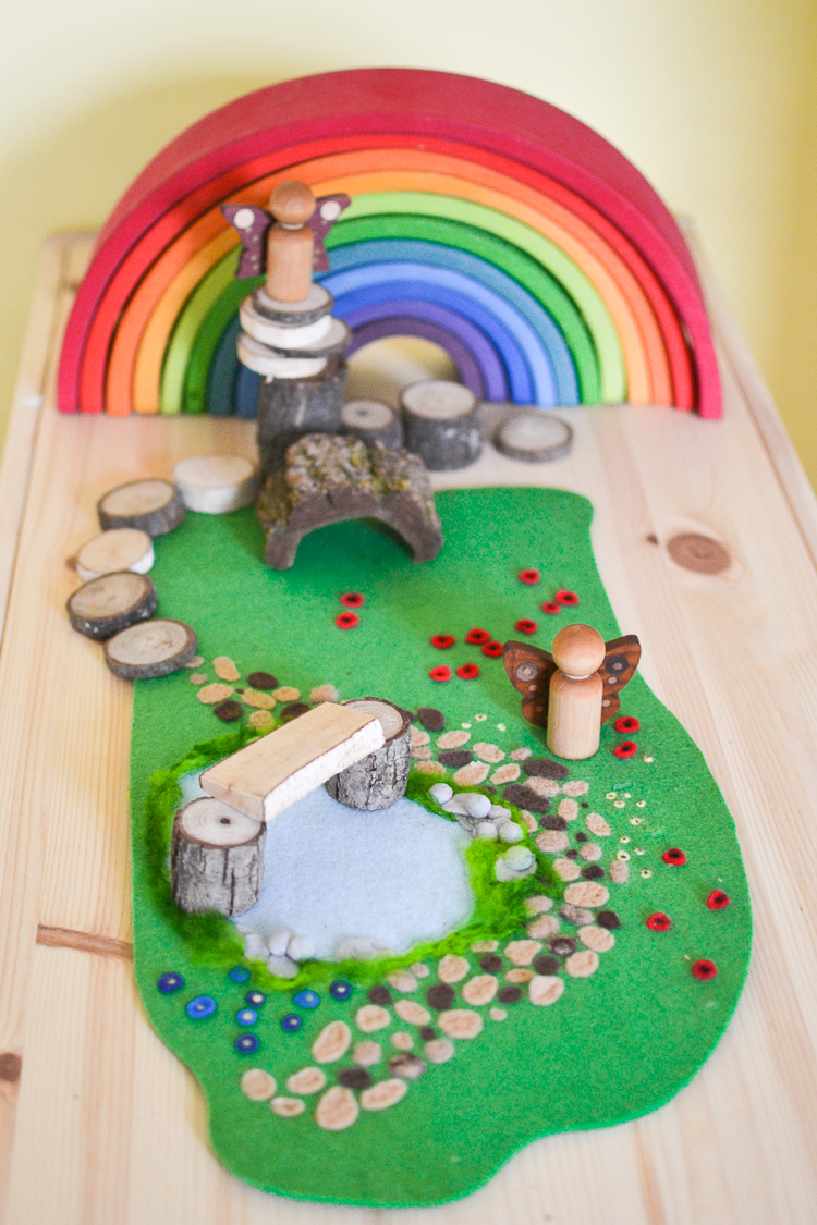 diy-woodland-meadow-no-sew-felt-mat-4