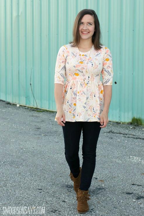 pdf pattern for peplum shirt