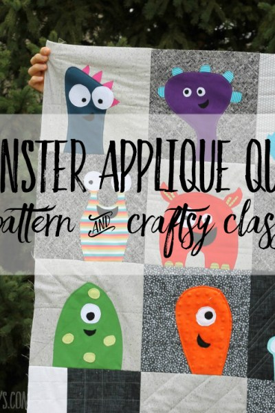 Craftsy quilt patterns - quilt-as-you-go appliqué monster pattern