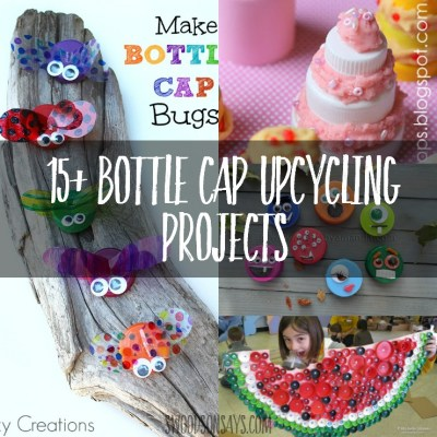 Craft Ideas that Upcycle Plastic Bottle Caps