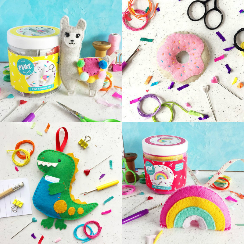 cute felt kits to sew for kids
