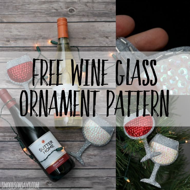 Use this free felt wine glass ornament sewing pattern to make the perfect DIY gift for the wine lover in your life! Pair it with a bottle of wine for the perfect hostess gift.