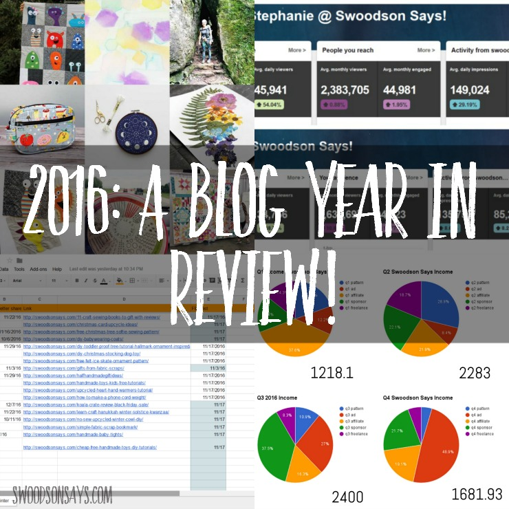 A Sewing Blog's year in review - looking back at 2016