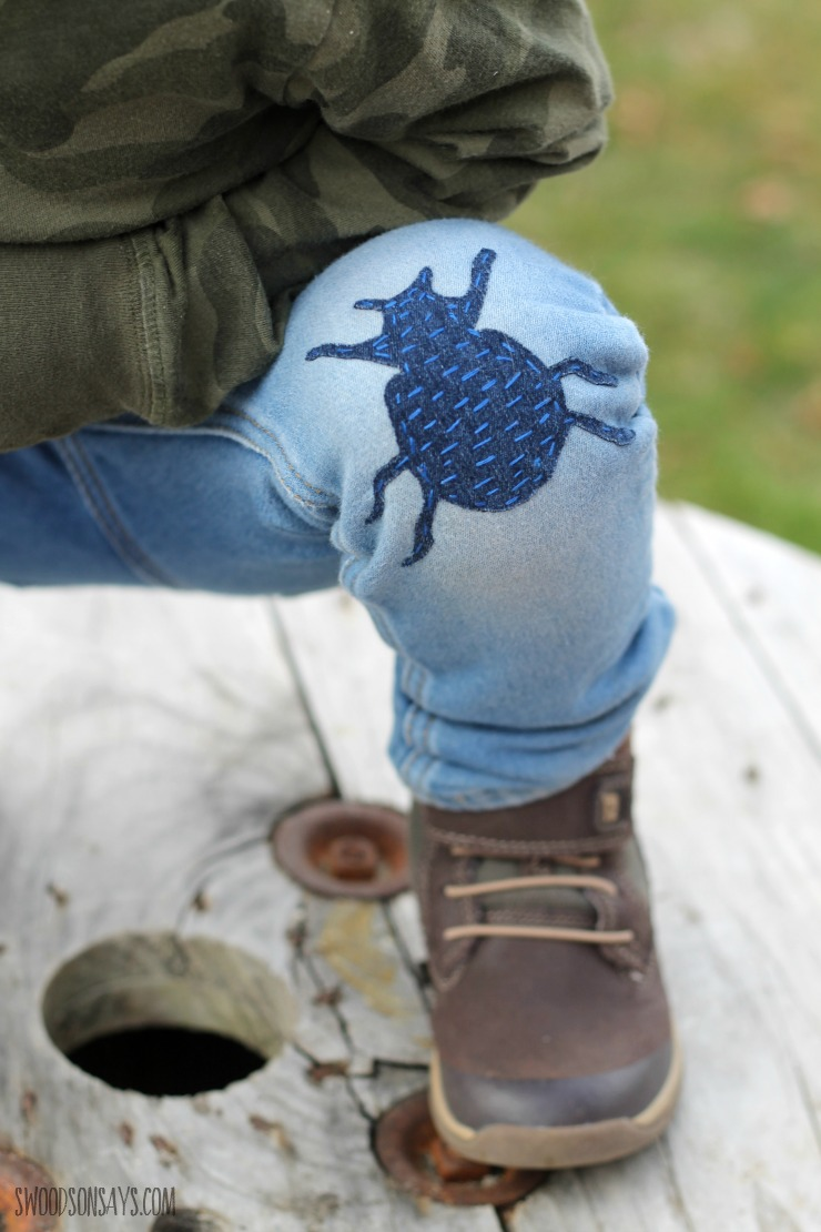 sashiko knee patch