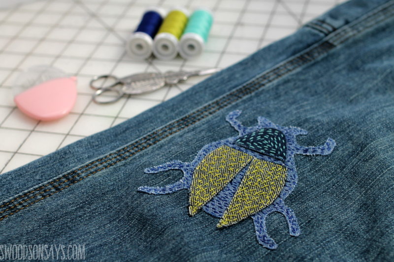 diy sashiko mending patch