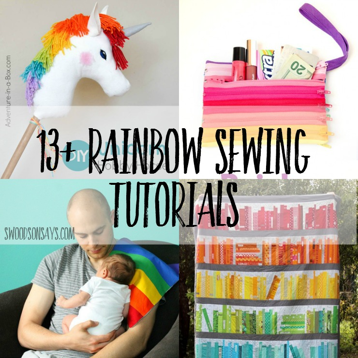 Rainbows are bright and cheery; here are some fresh rainbow sewing projects and tutorials to get you excited about spring! Check out a stuffed rainbow softie, rainbow quilt, rainbow pouches, and more.